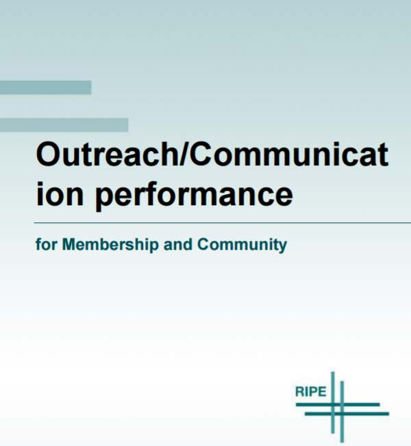 Outreach/Communication performance for Membership and Community