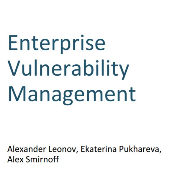 Enterprise Vulnerability Management